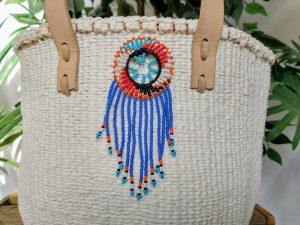 crochet bag Brooch